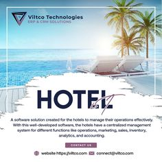Viltco's Hotel management system HotelIT has simplified hotel operations through automation. All aspects of the hotel management, ranging from minor to major ones, like booking, back office, front office, maintenance, housekeeping, billing, and guest management, can easily be managed through this software. #hotelmanagement #maintenance #hotel #software #manager #warehouse #viltcotechnologies #viltcosolution #erpsystem #odoo #odooerp #crmsolutions #strategy #success #billingsolution… Front Office, Housekeeping, Warehouse, Software, Management, Success, Marketing, Magazine, Barn