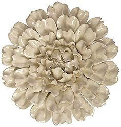 IMAX 64194 Isabella Large Ceramic Wall Decor Flower