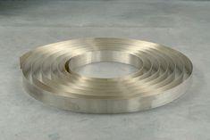 Carl Andre, Silver Ribbon (2002), Sadie Coles HQ, London, UK Strip of sheet silver, on floor, 0.1cm x 9cm x 21m