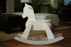 A friend of mine called a few weeks ago with this offer: she had an old rocking horse her dad had made which her boys had outgrown, and i...