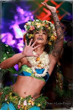 Polynesian Beauty- I love the tribal sleeve!