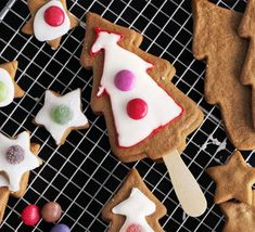 Spiced & iced Christmas trees. The whole family will enjoy making these cute and Christmassy gingerbread treats
