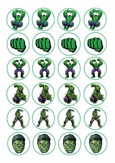 24 Icing Cake Toppers Decorations Fairy Bun The Hulk Avengers Hulk Comic, Hulk Avengers, Hulk Marvel, Hulk Hulk, Ms Marvel, Marvel Art, Captain Marvel, Marvel Comics, Hulk Birthday Cakes