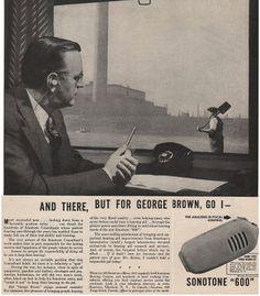 1946  SONOTONE 600 HEARING AID BI FOCAL CONTROL AD