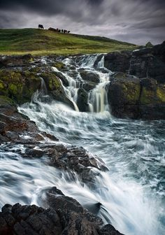 Dunseverick Coastal Falls, Co Antrim....where my ancestry is from...Mac
