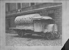 Bureau of Military History - An armoured car used by the British Forces in Dublin during the Rising of Easter Week 1916.