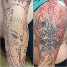 Tattoo dragon and geisha cover up started by KAIJU yesterday