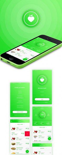 FitApp Mobile App UI PSD