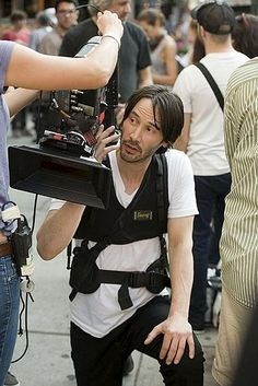Keanu filming Generation Um … in the streets of NYC source