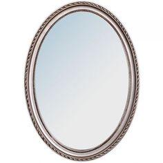 Spiegel NERINA barock oval silber wandspiegel