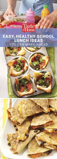 Easy, Healthy School Lunch Ideas You Can Make Ahead