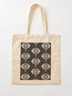 """The AyEye Mummy_Version02"" Cotton Tote Bag, print design by Asmo Turunen. #design #totebag #shoppingbag #kestokassi #kangaskassi #atcreativevisuals"