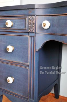 Coastal Blue Vintage Desk