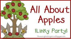 pinterest apples unit kindergarten | Lil Country Librarian: All About Apples {Linky Party}