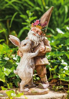 Forest Gnome and Bunny Dancing  Price $31.95