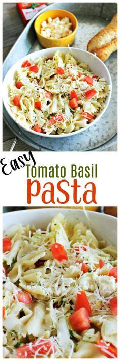 Easy Tomato Basil Pasta Recipe via @OCRaquel
