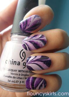 Purple Water marbling. <3