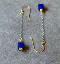 Lapis lazuli earrings Very long dangle earrings Blue by inBeads, $26.00