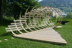 These handsome and ingenious Pavilion Architecture will dazeimpress you! Pavilion Architecture, Organic Architecture, Landscape Architecture, Interior Architecture, Pavilion Design, Timber Structure, Shade Structure, Urban Landscape, Landscape Design