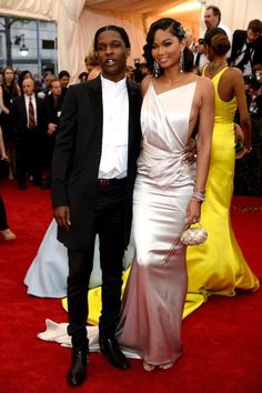 ASAP Rocky & Chanel Iman | The 18 Best-Dressed Celebrity Couples At The Met Gala   can we take a second.....