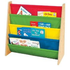 #2: Tot Tutors Book Rack, Primary Colors.