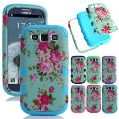 Flowers Dual Layer Hybrid Impact Hard Case Cover For Samsung Galaxy S3 III i9300 #UnbrandedGeneric Fun Shopping, Samsung Galaxy S3, Phone Cases, Cover, Flowers, Royal Icing Flowers, Flower, Florals, Floral