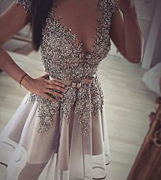 Homecoming Dress,Short Prom Gown,Grey Homecoming Gowns,Backless Party Dress,Sequined Prom Dresses,Sexy dress