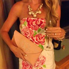 Lilly Pulitzer monograms pearls champagne Beverly Kelley (@mrs_bsk) • Instagram