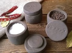 black clay seasoning pots by little brick house ceramics | notonthehighstreet.com