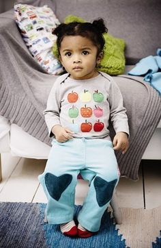 could re-purpose Cayden's old pants to look like this for Grace Cute Girl Outfits, Kids Outfits, Baby Girl Fashion, Kids Fashion, Patch Pants, Girl Style, My Style, Little Fashionista, Mini Boden