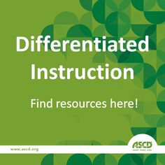 Looking to maximize student growth in your classroom? Use our library of differentiated instruction resources to reach each child in a unique way: