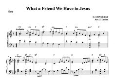 $1.50 Harp Music: What a Friend We Have in Jesus for Harp | Janet Lanier