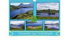 Quintette aus Schottland - AT Version (Wandkalender 2021 DIN A4 quer) Wall Calendars, Scotland, Deutsch