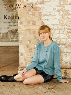 Keelin free pattern form Rowan , in 4 ply Knit Cardigan Pattern, Sweater Knitting Patterns, Free Knitting, Cardigan Sweaters For Women, Cardigans For Women, Garter Stitch, Mantel, Knit Crochet, Rowan