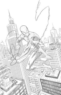 Spider-man swinging through the City pencils by JoeyVazquez on DeviantArt Spiderman Sketches, Avengers Drawings, Spiderman Drawing, Spiderman Poses, Spiderman Kunst, Amazing Spiderman, Drawing Cartoon Characters, Comic Drawing, Comic Kunst