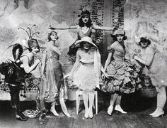 """don't know what all is going on here... but that lettuce dress! be still my heart.    Follies 1919 