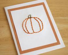 Cute handmade pumpkin Halloween card tutorial (@Marie - Make and Takes) #DIY