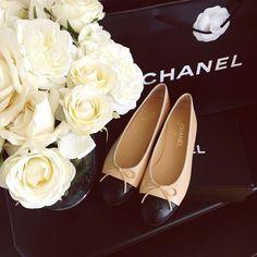Chanel ballerina flats.