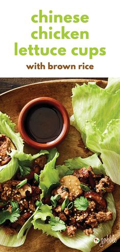 Gobble | Chinese Chicken Lettuce Cups With Brown Rice | Dinner in 15 Minutes | Dinner For Two | Quick and Easy Recipes | New Recipes To Try | Cook At Home | Healthy Meals Made With Fresh Ingredients | What To Have For Dinner | Dinner Recipes And Ideas | Easy Dinner Recipes | Gourmet Meals | $50 OFF