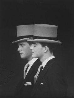 Anthony Armstrong Jones' Brothers Desmond Parsons, Lord Oxmantown at Wedding to Princess Margaret, by Loomis Dean