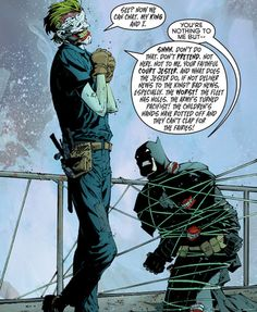Joker vs Batman, the king and the court jester