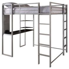 Abode Full Size Loft Bed Metal/Silver - Dorel Home Products in Home & Garden, Kids & Teens at Home, Furniture | eBay
