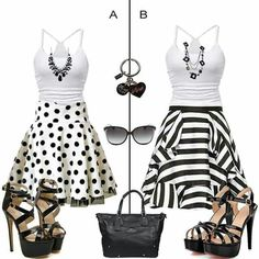 Blk/ white outfits