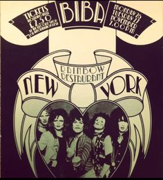New York Dolls at the Rainbow Room Biba. Two icons for the price of one.