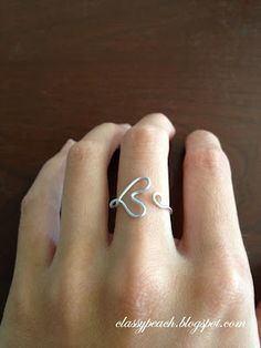 DIY Arrow Ring With Metal Wire DIY Wrapped Jewelry Pinterest - Cute diy wire rings for middle phalanges
