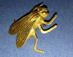 Brand New Brass Stamped Bug House Fly Men's Neck Tie by RWHLynx, $11.99