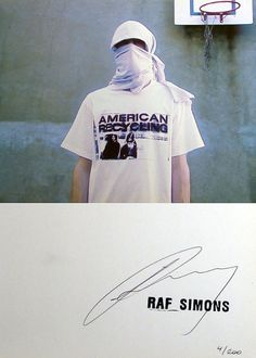 raf simons, autograph, pale