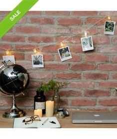 This charming 10 warm white LED string light, with peg clip decoration, is powered by batteries, and comes with a timer function. Christmas Lights Inside, Indoor Christmas Lights, Holiday Lights, Indoor Lights, University Rooms, Christmas Light Installation, Uni Room, Solar Powered Lights, Party Lights