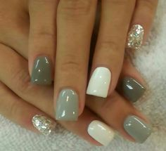 grijs wit glitter