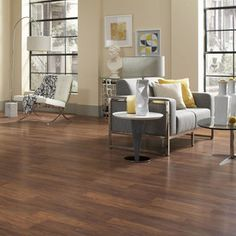 Walnut laminate floor at Lowes.